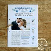 Svatební noviny - TYP 13 - modré,