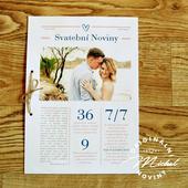 Svatební noviny - TYP 14 - modré,