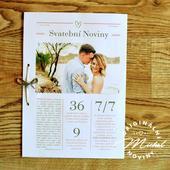 Svatební noviny - TYP 14 - šedá,