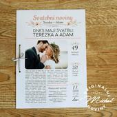 Svatební noviny - TYP 13 - růžové,