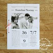 Svatební noviny - TYP 14 - černobílé,