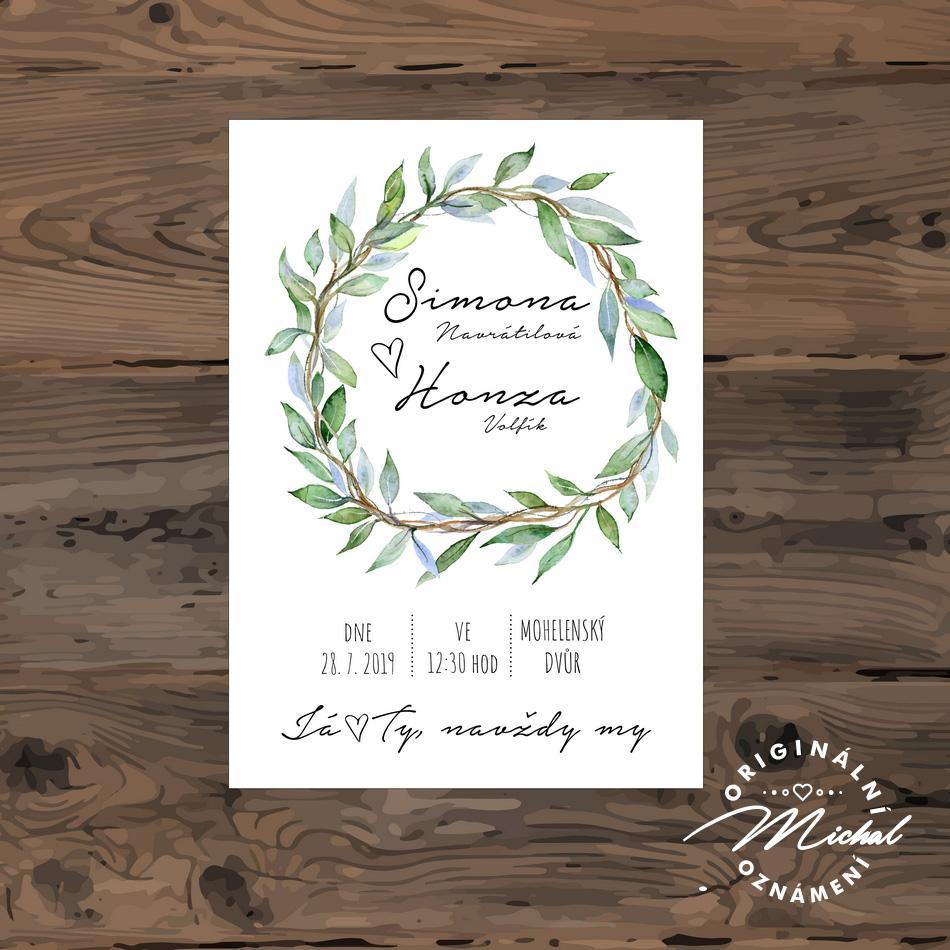 Svatební oznámení - TYP 110 - Obrázek č. 1