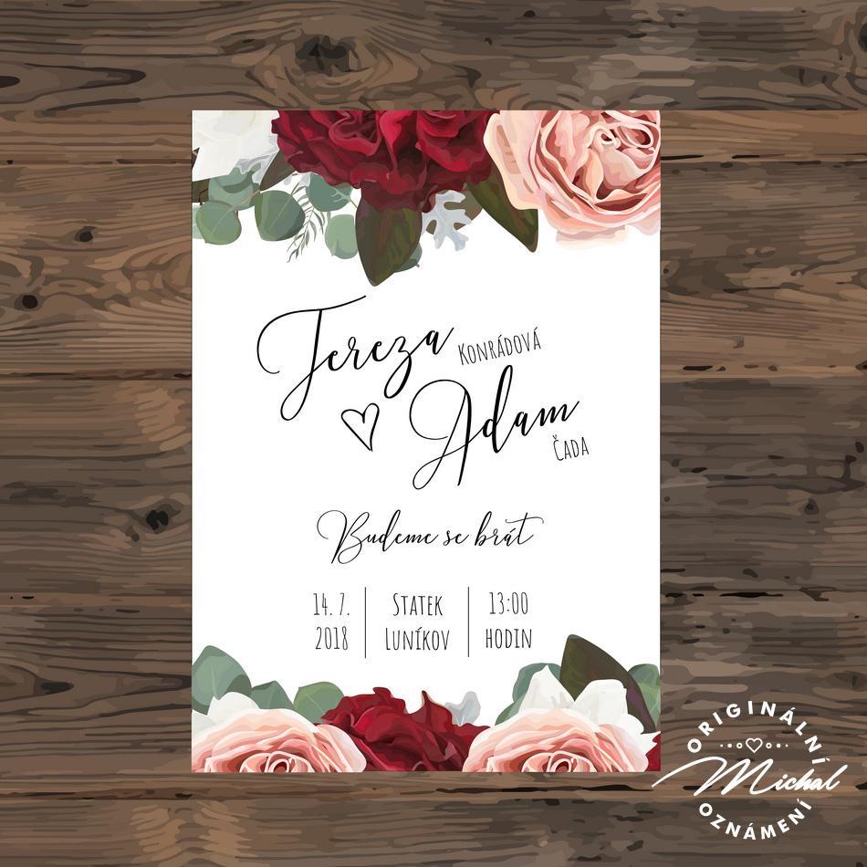 Svatební oznámení - TYP 114 - Obrázek č. 1