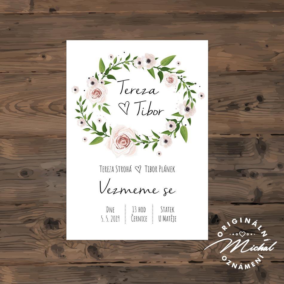 Svatební oznámení - TYP 128 - Obrázek č. 1