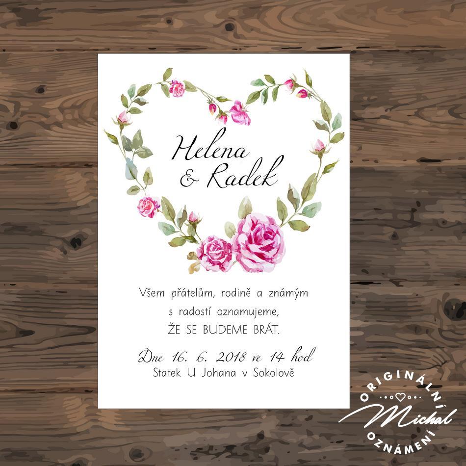 Svatební oznámení - TYP 133 - Obrázek č. 1