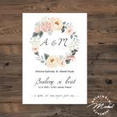 Svatební oznámení - TYP 145,