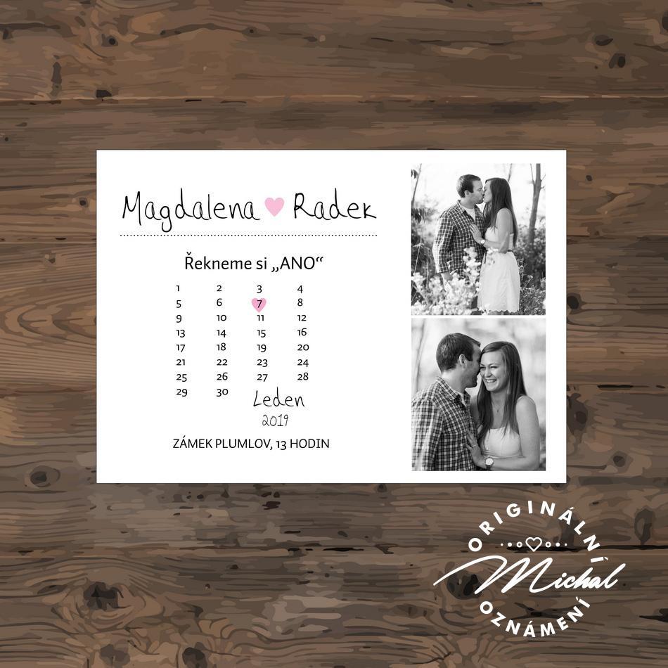 Svatební oznámení - TYP 170 - s fotkou - Obrázek č. 1