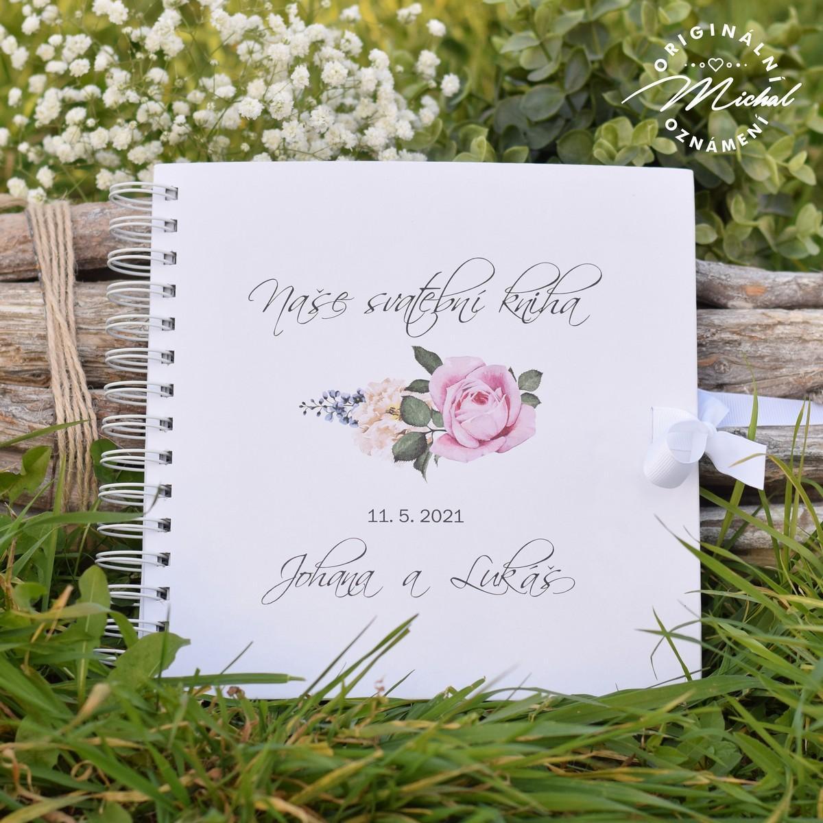 Svatební kniha hostů - pevné knižní desky - 2 - Obrázek č. 1