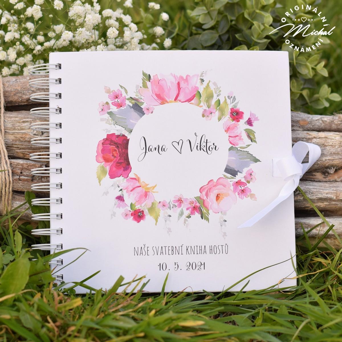 Svatební kniha hostů - pevné knižní desky - 9 - Obrázek č. 1