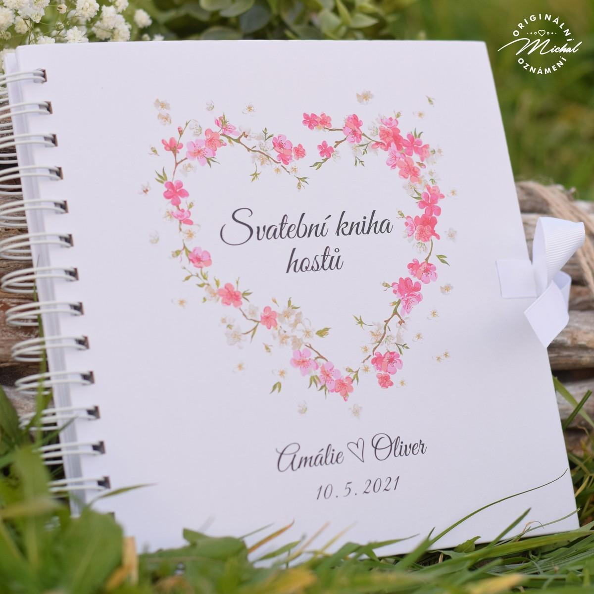 Svatební kniha hostů - pevné knižní desky - 8 - Obrázek č. 1