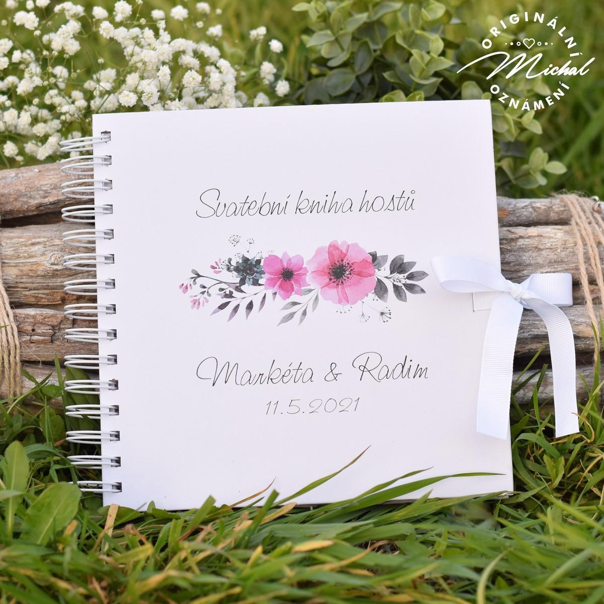Svatební kniha hostů - pevné knižní desky - 5 - Obrázek č. 1