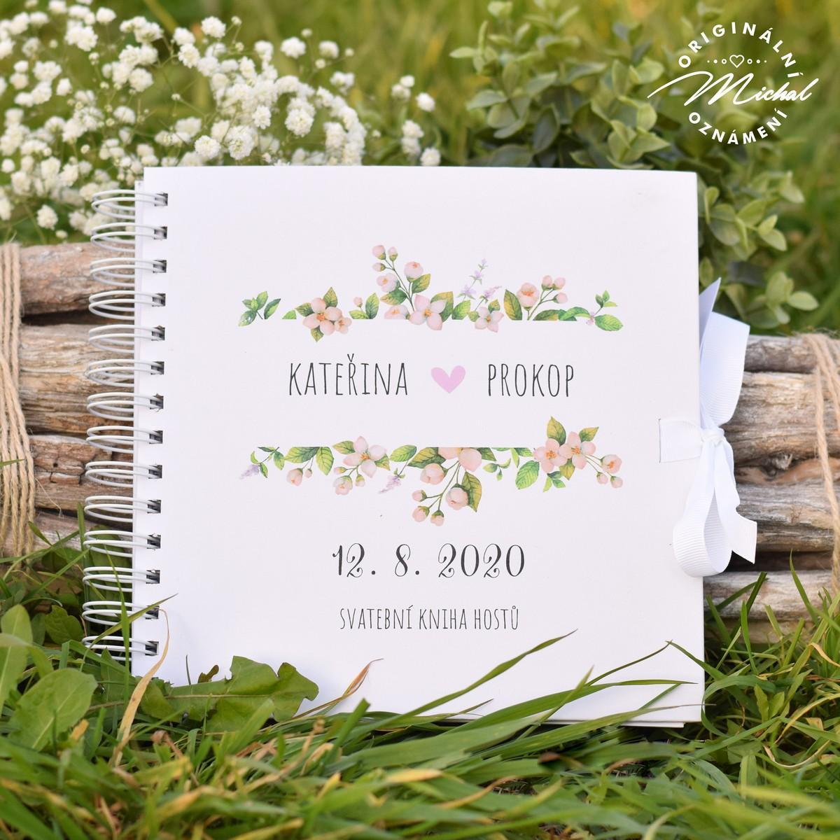 Svatební kniha hostů - pevné knižní desky - 4 - Obrázek č. 1