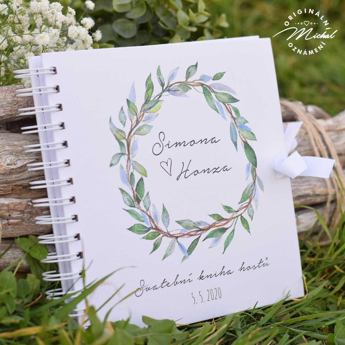 Svatební kniha hostů - pevné knižní desky - 6 - Obrázek č. 1