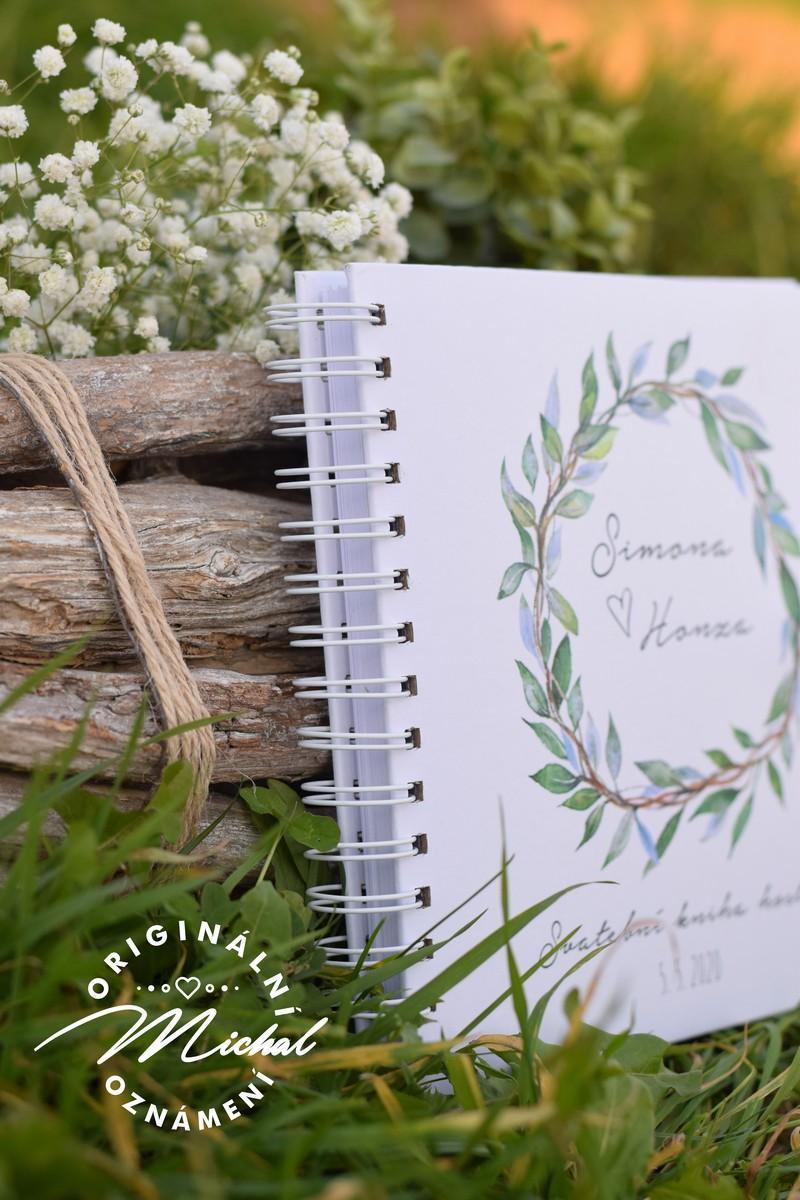 Svatební kniha hostů - pevné knižní desky - 6 - Obrázek č. 2