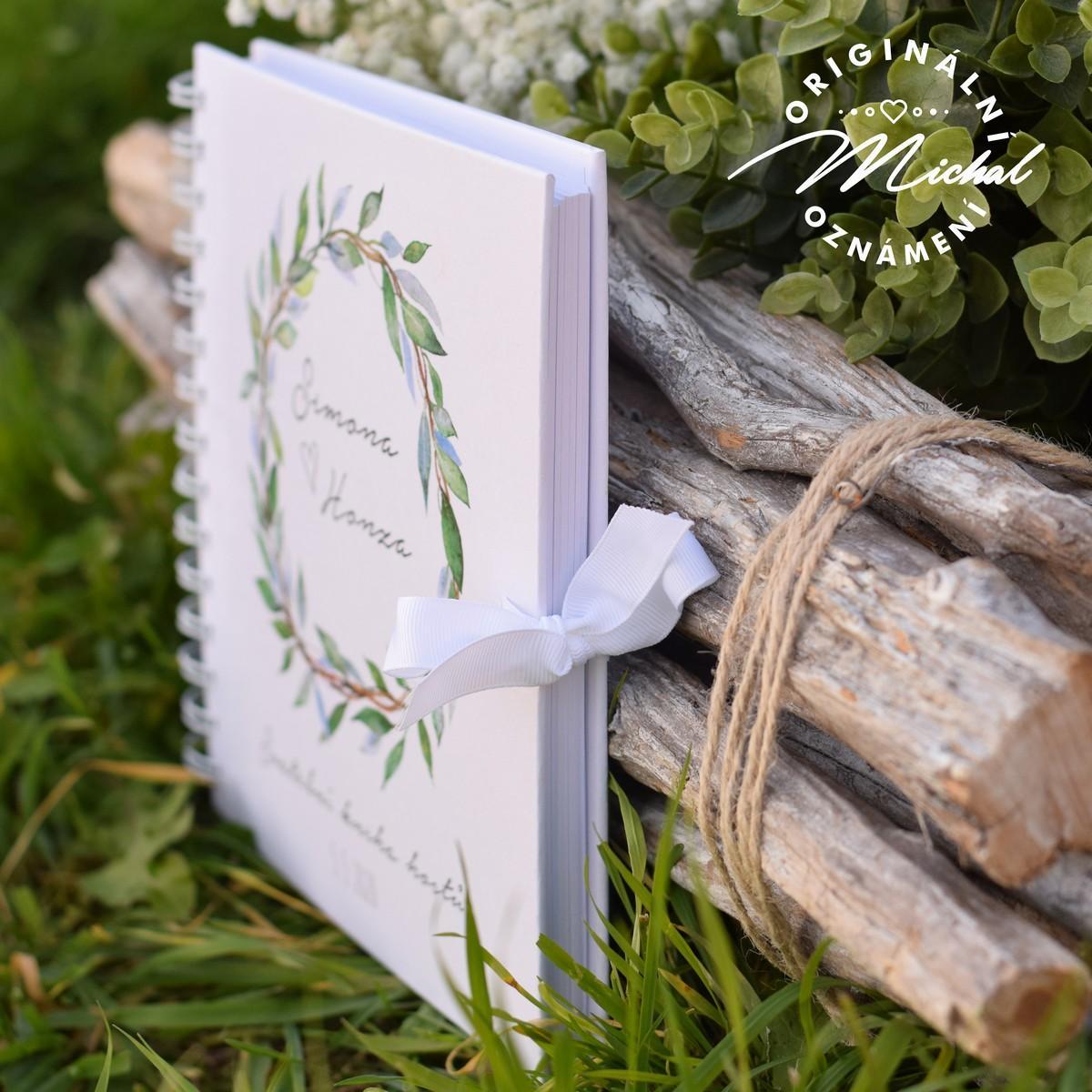 Svatební kniha hostů - pevné knižní desky - 6 - Obrázek č. 3