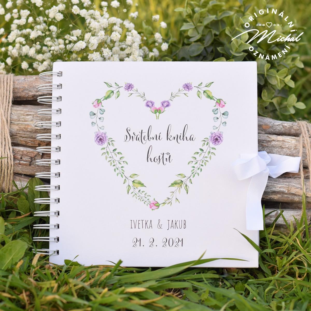 Svatební kniha hostů - pevné knižní desky - 3 - Obrázek č. 1