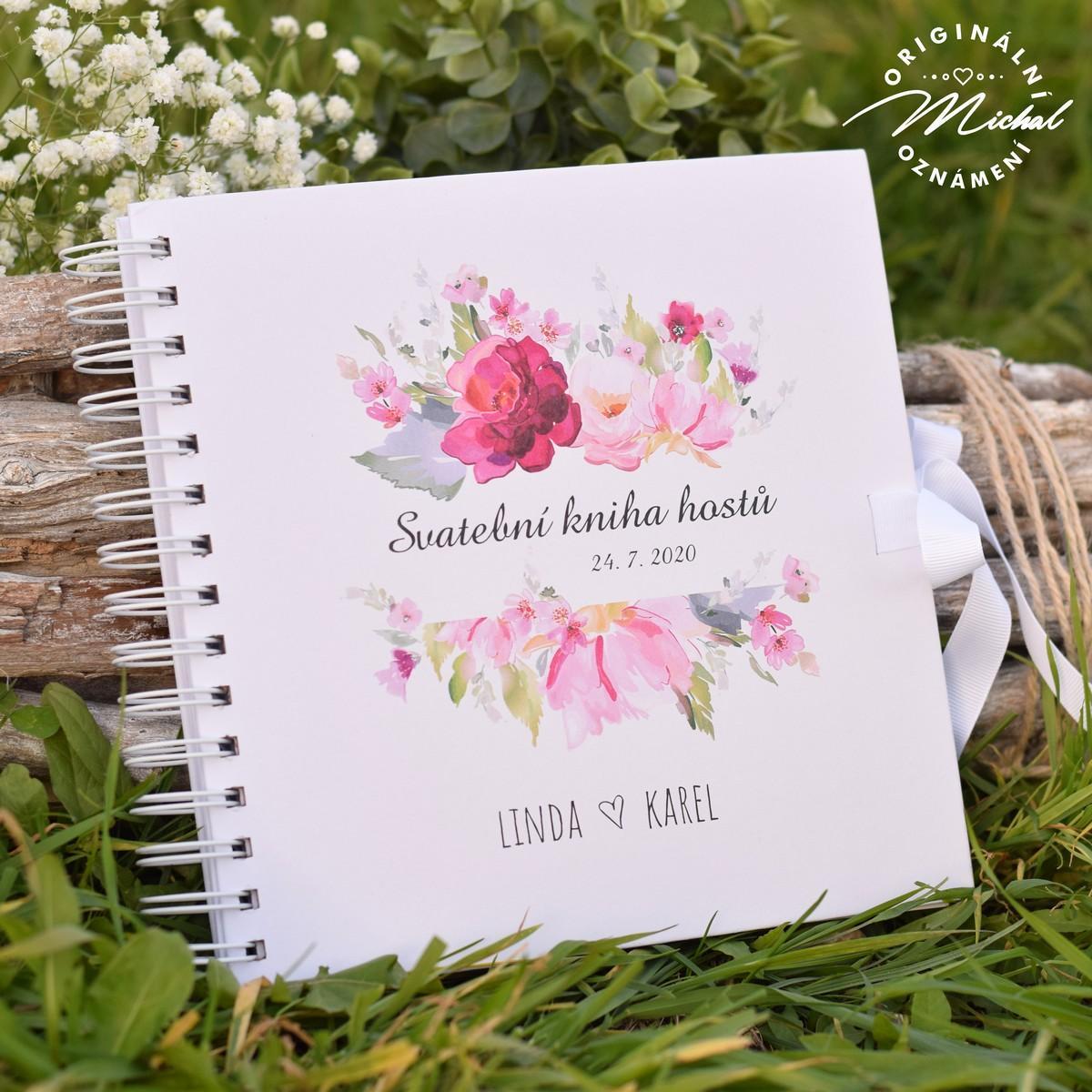 Svatební kniha hostů - pevné knižní desky - 7 - Obrázek č. 1