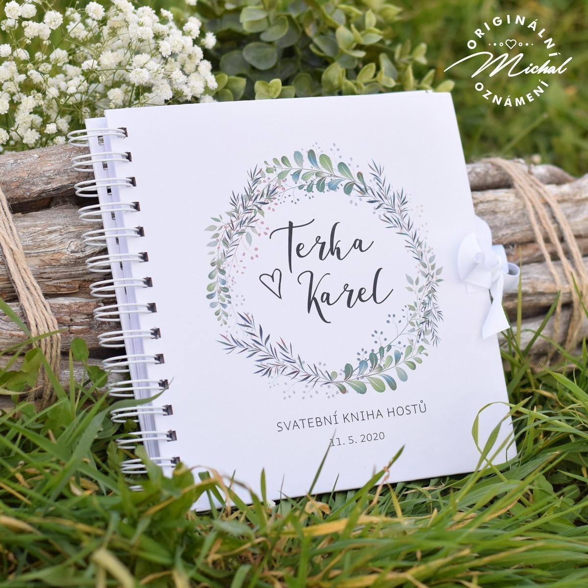 Svatební kniha hostů - pevné knižní desky - 1 - Obrázek č. 1
