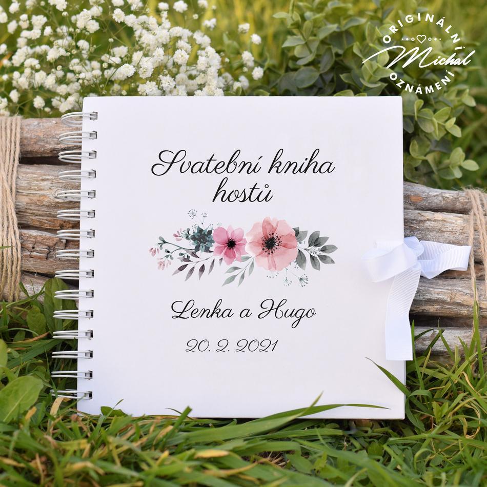Svatební kniha hostů - pevné knižní desky - 10 - Obrázek č. 1