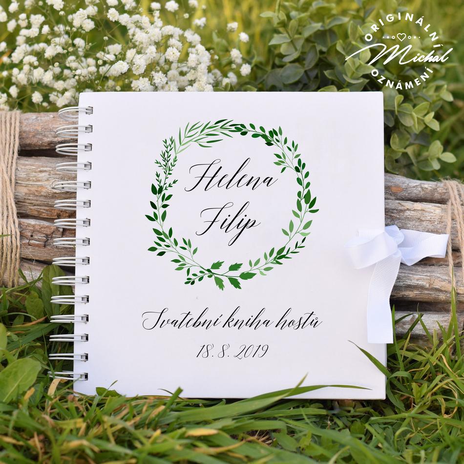 Svatební kniha hostů - pevné knižní desky - 11 - Obrázek č. 1