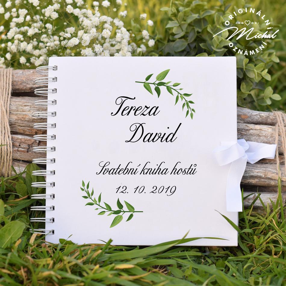Svatební kniha hostů - pevné knižní desky - 12 - Obrázek č. 1