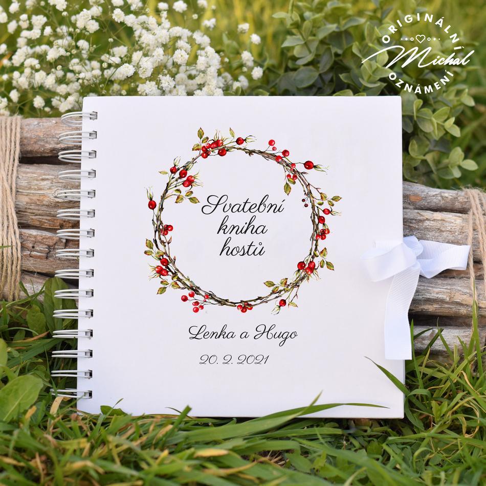 Svatební kniha hostů - pevné knižní desky - 13 - Obrázek č. 1