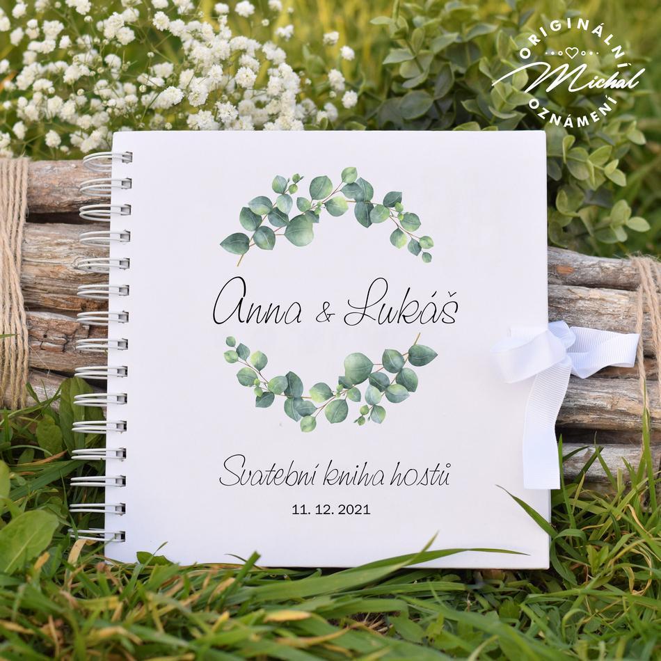 Svatební kniha hostů - pevné knižní desky - 14 - Obrázek č. 1