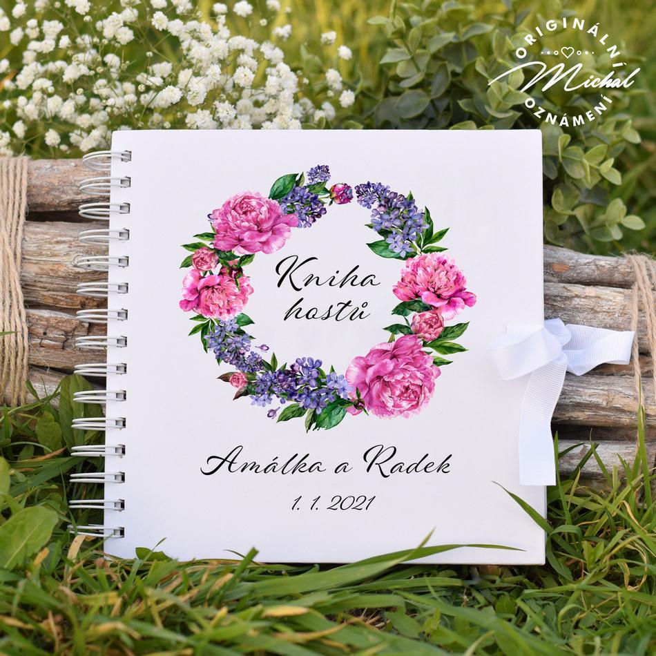 Svatební kniha hostů - pevné knižní desky - 15 - Obrázek č. 1