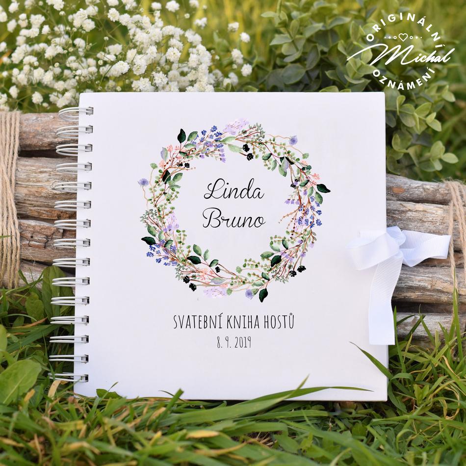 Svatební kniha hostů - pevné knižní desky - 16 - Obrázek č. 1