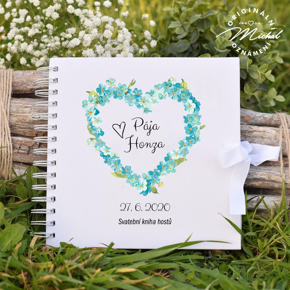 Svatební kniha hostů - pevné knižní desky - 17 - Obrázek č. 1