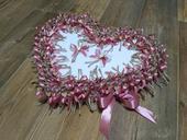 Polystyrénové srdce na vývazky + 20ks vývazků,