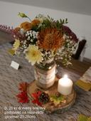 Jesenná stolová výzdoba ,