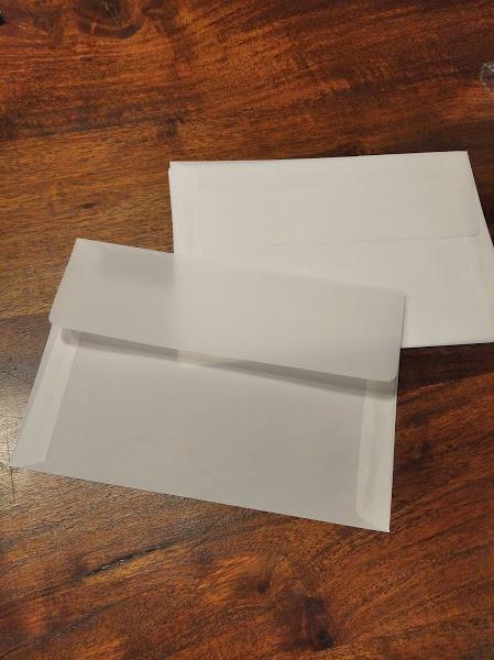 Prípravy K & P 💘 - Transparentné obálky na save the date