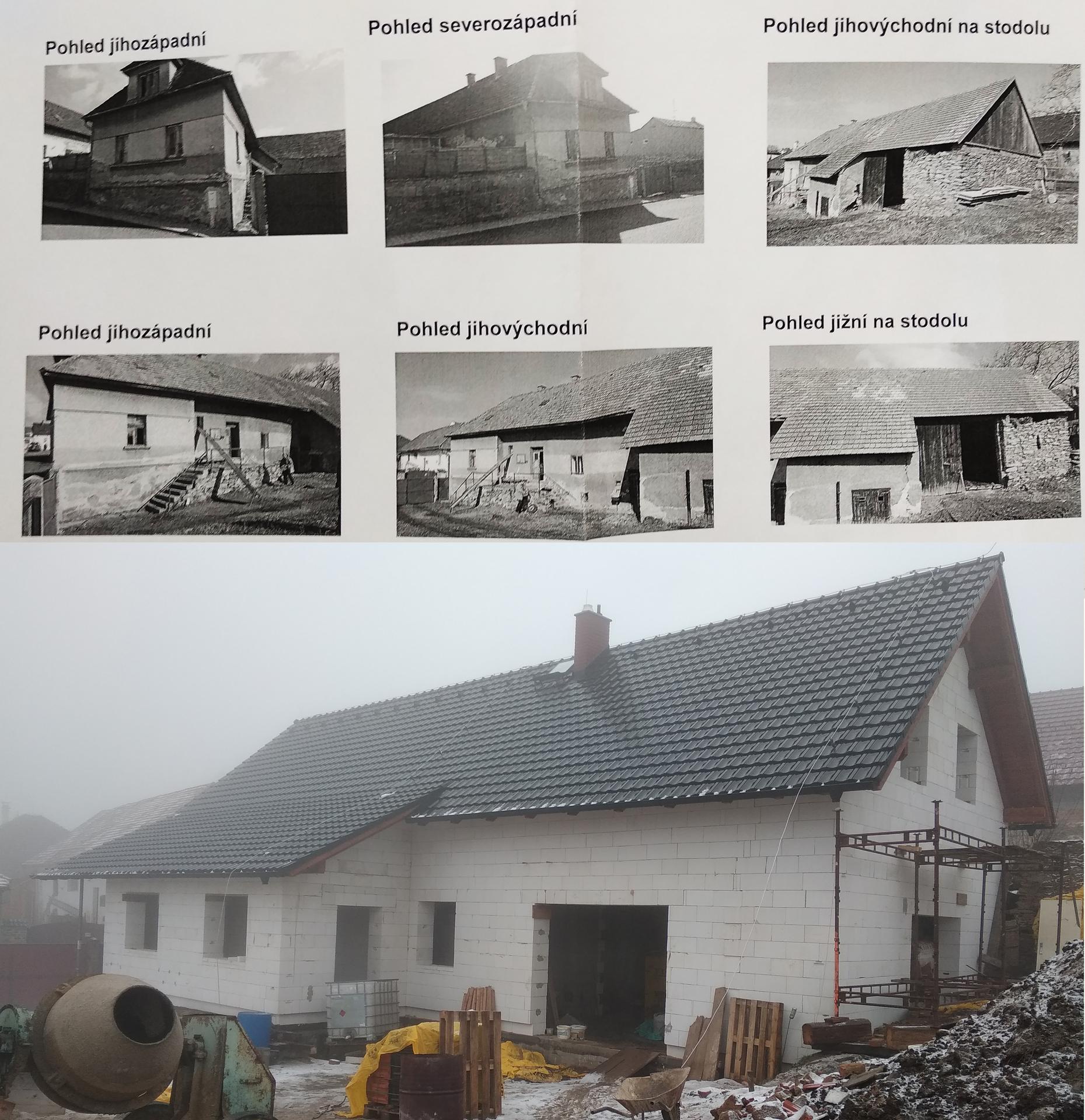 Hrubá stavba - Rozdíl zhruba po roce .