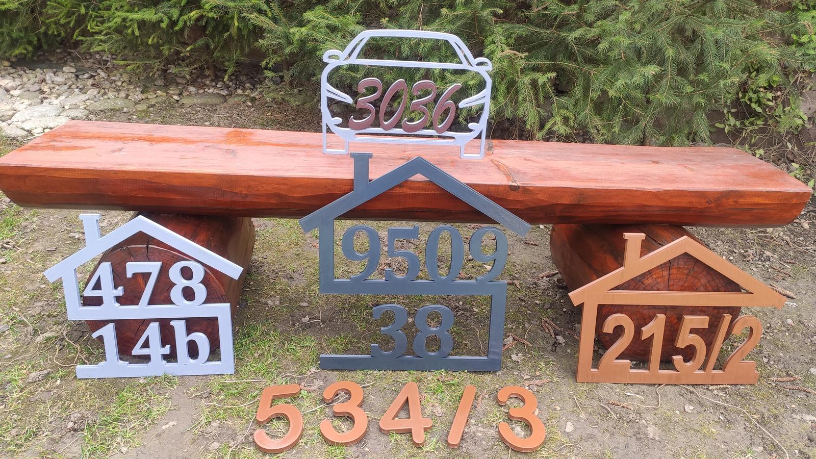 popisné čísla - domček bungalov - Obrázok č. 1