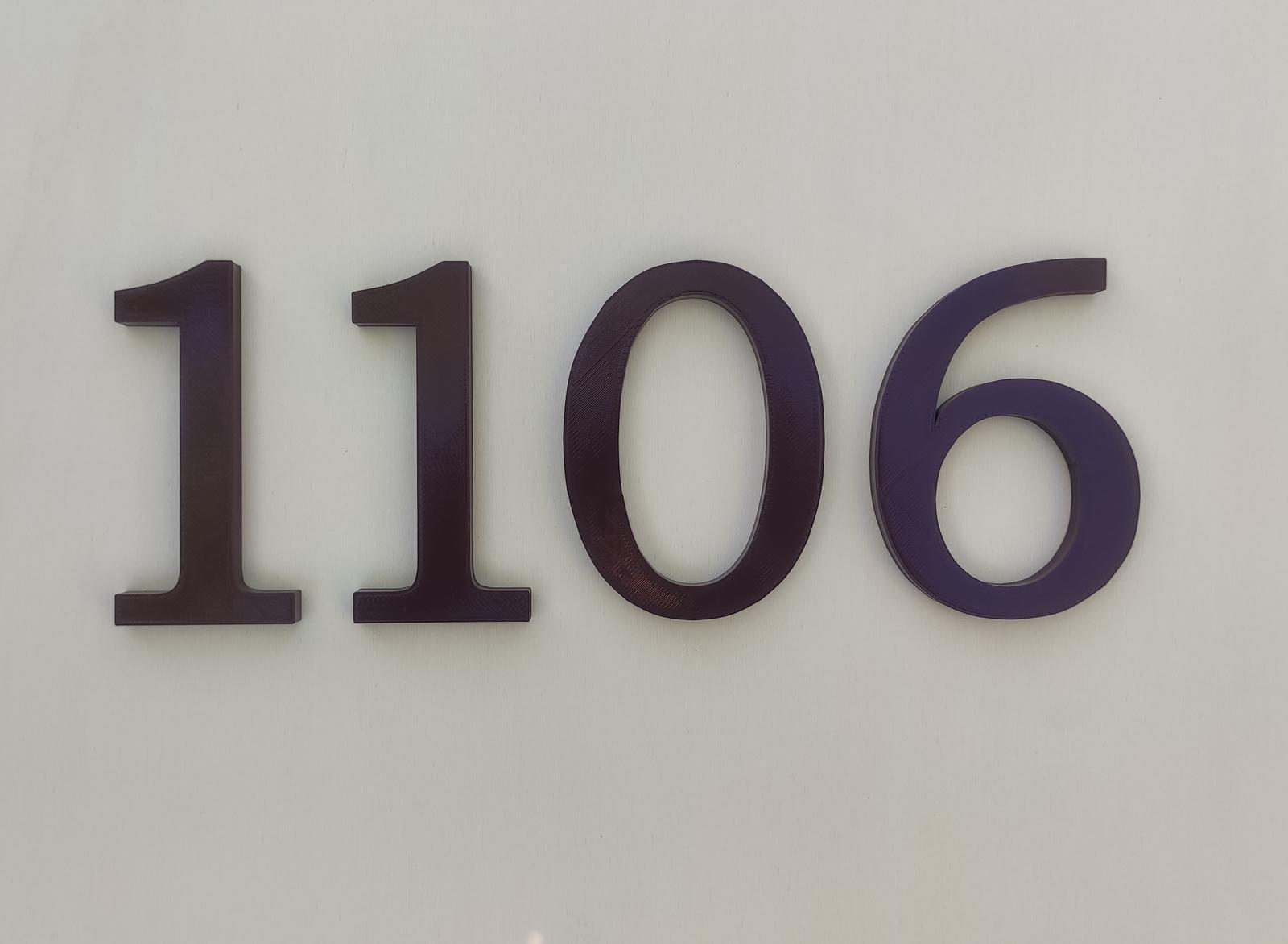 čísla na dom - samostatné - Obrázok č. 1