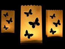 Dekorativní lampion - motýlci 10 KS - Obrázek č. 1