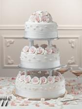 ... takový bude dort, jen růžičky budou jemně zelené ....