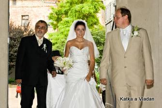 ... dva muži mého života, táta a manžel, třetí muž - bráška je na další fotce ...