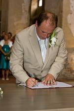 ... podpis ženicha ...