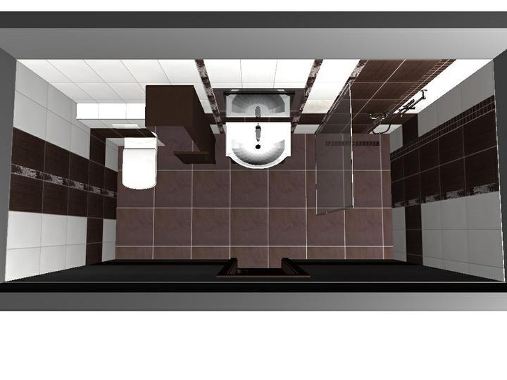 Od návrhu k realizaci koupelny - která verze se vám líbí, sprcha s mozajkou