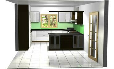 takovou budu mít kuchyň, jen dveře jsou nalevo