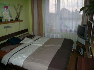 naše ložnice na bytě