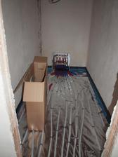 topení v komoře a rozvody do celého podkroví
