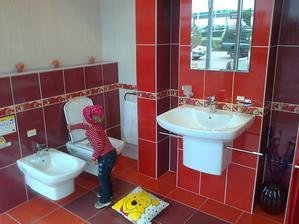 že by do horní koupelny?