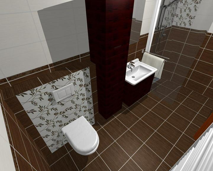Od návrhu k realizaci koupelny - původní návrh-neprošel