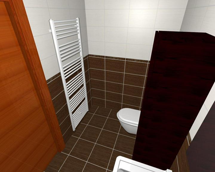 Od návrhu k realizaci koupelny - vodorovná verze, no nebyla špatná, ale chtěla jsem tam dekor