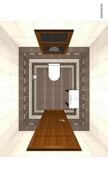 Domeček pokračování vnitřku, jak šel čas - pohled shora na wc