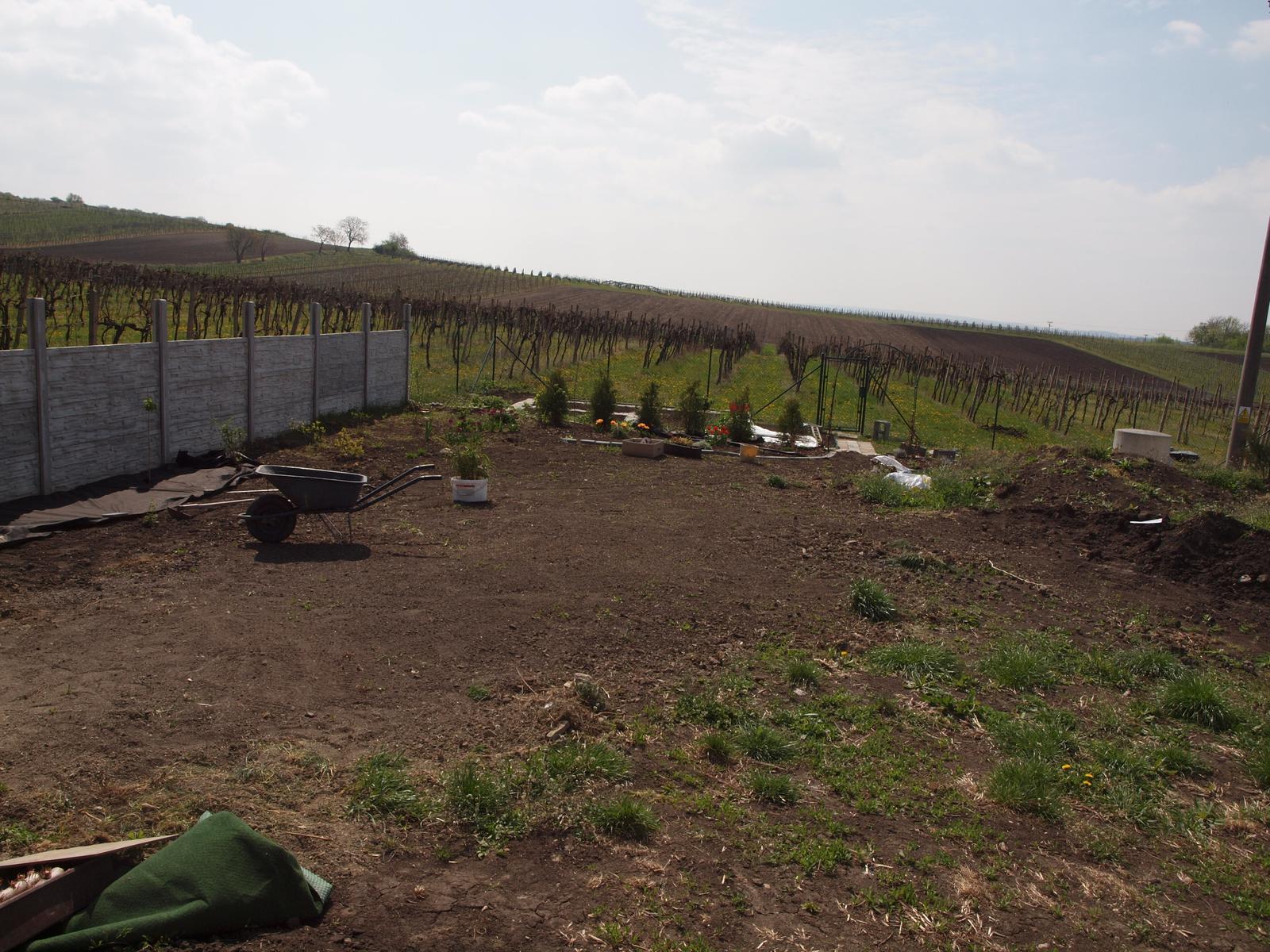 Zahrada - ještě zbytek trávy pokopat a pěkně uhrabat
