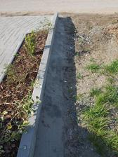 náš hodný soused stříkal trávu ve vinohradě a vzal i naši hranici, asi si myslí, že mám v záhonu plevel, vidíte jak je beton mokrý? Hned jsem keře postříkala vodou, tak snad přežijí.